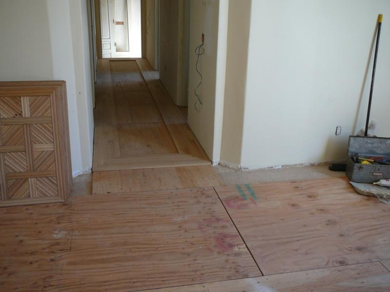 Install solid white oak parquet and strip flooring