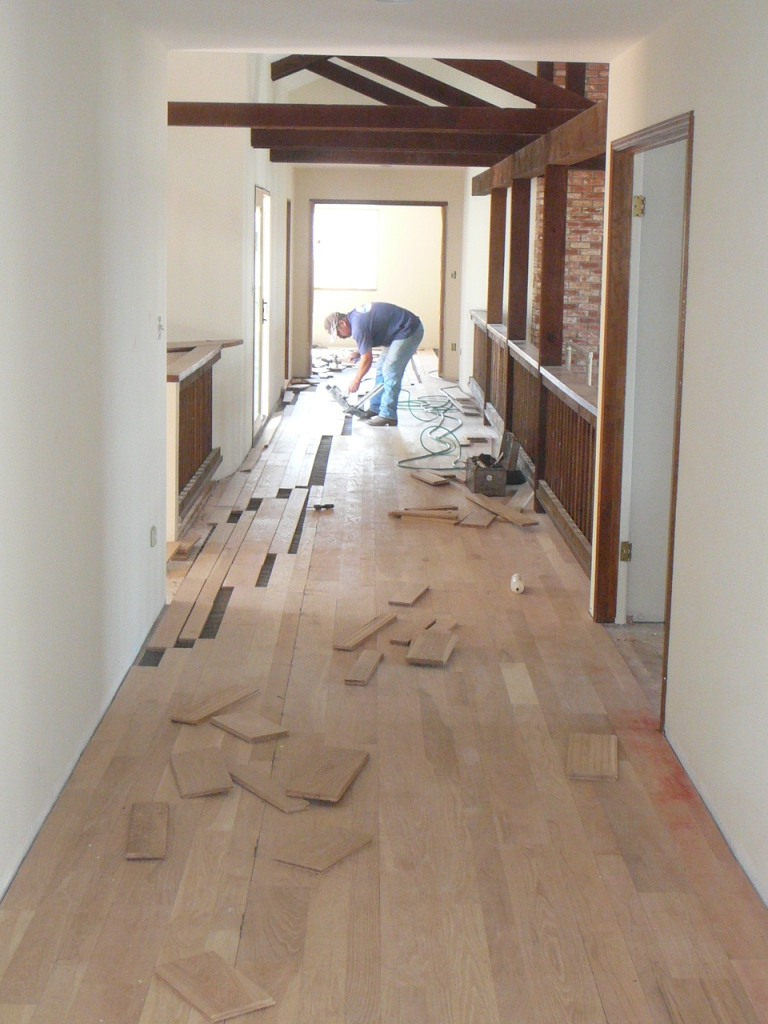 "Installing 3"",4"",6"" 3/4"" random length Solid White Oak Plank Flooring"