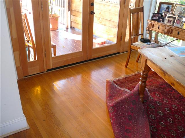 After Hardwood Floor Installation