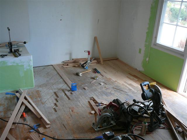 Before Hardwood Floor Refinsihing