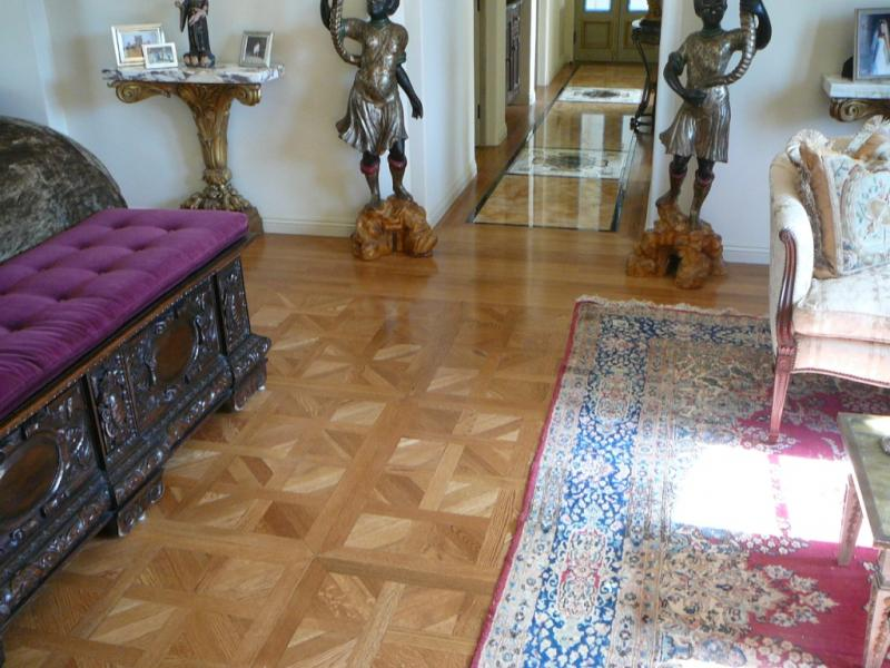 Install white oak Parquet French Site Finished