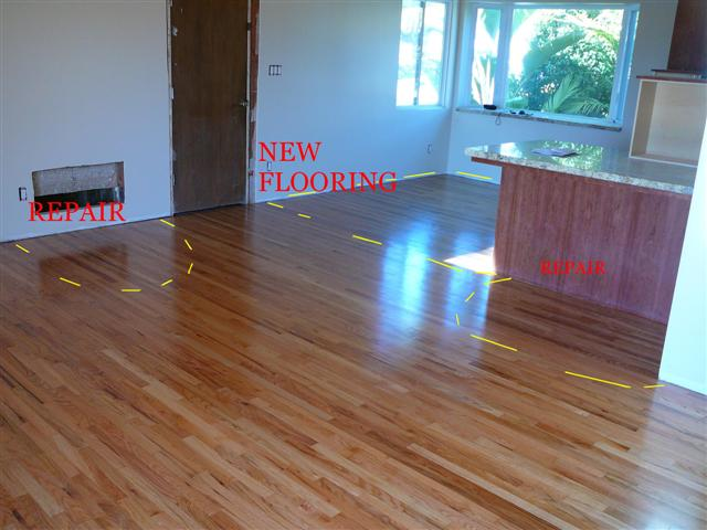 Red Oak After Hardwood Repair