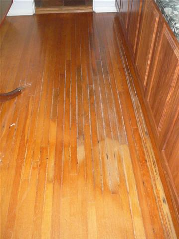 White Oak Before Hardwood Refinishing